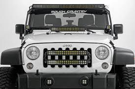 led light bar jeep wrangler 20in led light bar grille kit for 07 17 jeep jk wrangler