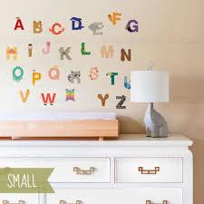 alphabet wall sticker peel and stick repositionable fabric stickers alphabet wall sticker