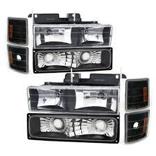1998 chevy silverado tail lights chevy silverado 1988 1993 black headlights and led tail lights