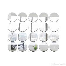 wholesale ps round dots mirror removable wall sticker living room
