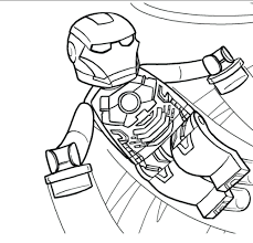 lego marvel heroes colouring pages coloring to print free