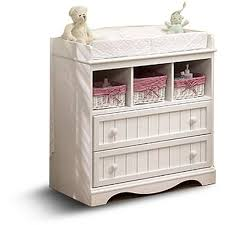 White Dresser And Changing Table South Shore Baby Storage Furniture Dresser Changing Table