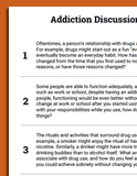 substance use worksheets therapist aid