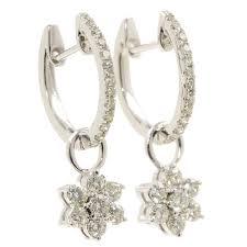 rositas earrings new modern 14k white gold diamond 1 25ctw rosita huggie earrings