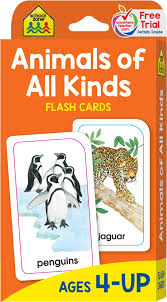 animals of all kinds flash cards school zone publishing company