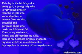 this day is the birthday of birthday wish for wife