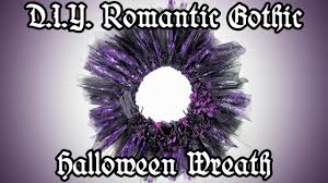diy romantic gothic halloween wreath easy halloween decoration
