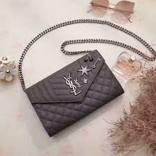 Monogram Charms Ysl 2017 Collection Saint Laurent Monogram Charms Chain Wallet In