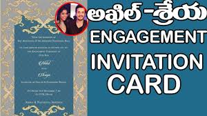 Engagement Invitation Cards Free Exclusive Akhil And Shirya Engagement Invitation Card Akkineni