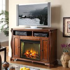 Media Center With Fireplace by Furniture Dark Brown Stained Wooden Electric Fireplace Media