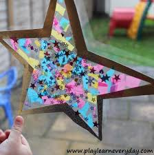 New Years Eve Window Decorations by Star Shaped Stained Glass Window Decoration Play And Learn Every Day