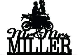 motorcycle wedding cake toppers motorbike wedding cake toppers custom topper and s with your last