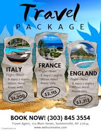 travel packages images Travel packages flyer template postermywall jpg