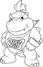amusing bowser coloring pages jr mario page 589x900 bowser