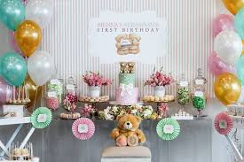 teddy decorations kara s party ideas teddy forever friends birthday party