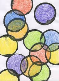 art projects for kids kinder art overlapping circles week 1