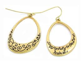 religious jewelry 5030003 christian scripture religious jewelry earrings psalm 33 1