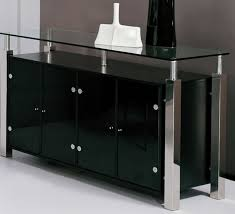 stunning black wood white dining room buffet with doors and mirror