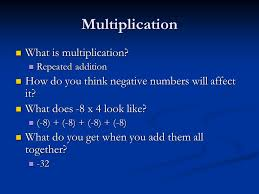 what is multiplication multiply integers swbat multiply integers multiplication what is