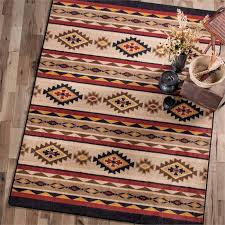 8 Foot Square Rug by Rustic Mesa Border Rug 8 Foot Square Reclaimed Furniture Design