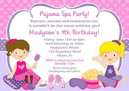 spa birthday party invitations spa birthday party invitations for