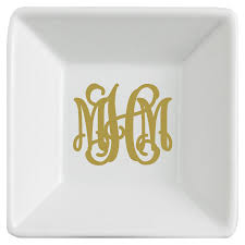 monogrammed serving dishes monogrammed jewelry dish