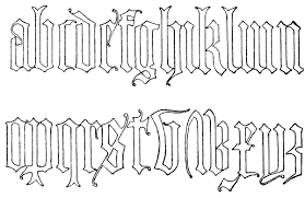 old english lettering alphabets tattoo designs real photo