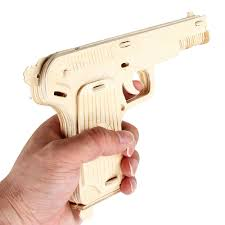 aliexpress com buy newest 3d diy wooden toys gun revolver puzzle