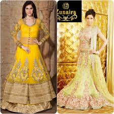 yellow dress for wedding bridal mehndi dresses in yellow color 2016 stylo planet