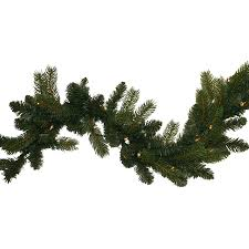 shop ge indoor outdoor pre lit 9 ft l fraser fir garland with