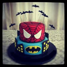 spiderman batman cake ideas 97489 twins birthday cake idea