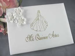 quinceanera guest book satin flower quinceanera guestbook wedding cake topppers