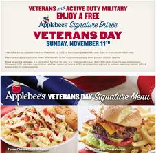 applebee s veterans active duty eat free november 11
