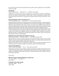Sterile Processing Resume Gail Dublanc Resume