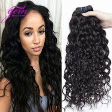 vip hair extensions indian hair water wave 3pcs lot and wavy human hair