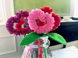 valentine u0027s day kids craft pipe cleaner heart flowers art appeel