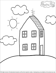 coloring pages peppa the pig peppa pig house coloring pages peppa pig coloring picture fmsv
