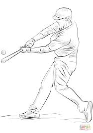 baseball player coloring free printable coloring pages
