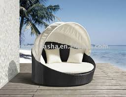 Outdoor Wicker Sofa Set Round With Canopy Wicker Patio Furniture - Round outdoor sofa