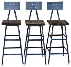 Barnwood Bar Stools Set Of 3 Urban Bar Stools With Backs Reclaimed Barn Wood Rustic