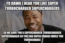Meme Explained - the difference between turbos superchargers explained