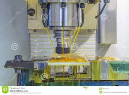 milling machine cnc with oil coolant stock photo image 49752317