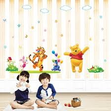 Disney Happy Winnie The Pooh Nursery Wall Sticker - Disney wall decals for kids rooms