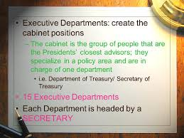 15 Cabinet Positions The Federal Bureaucracy Ppt Video Online Download