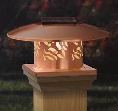 4x4 solar post lights designer copper solar post cap light for 4x4 wood post