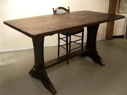dining tables trestle table bases rustic counter height trestle farm tables