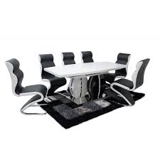 paris extendable dining table high gloss from ms furnishings uk