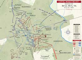 Map Of The United States During The Civil War by First Manassas July 21 1861 Civil War Trust