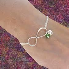 birthstone bracelet for otis b jewelry personalized infinity birthstone bracelet