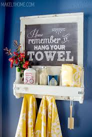 bathroom towel rack ideas diy chalkboard towel rack and bathroom accessories holder